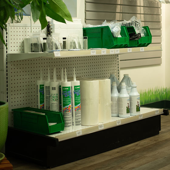 Synthetic Turn Installation accessories on a shelf